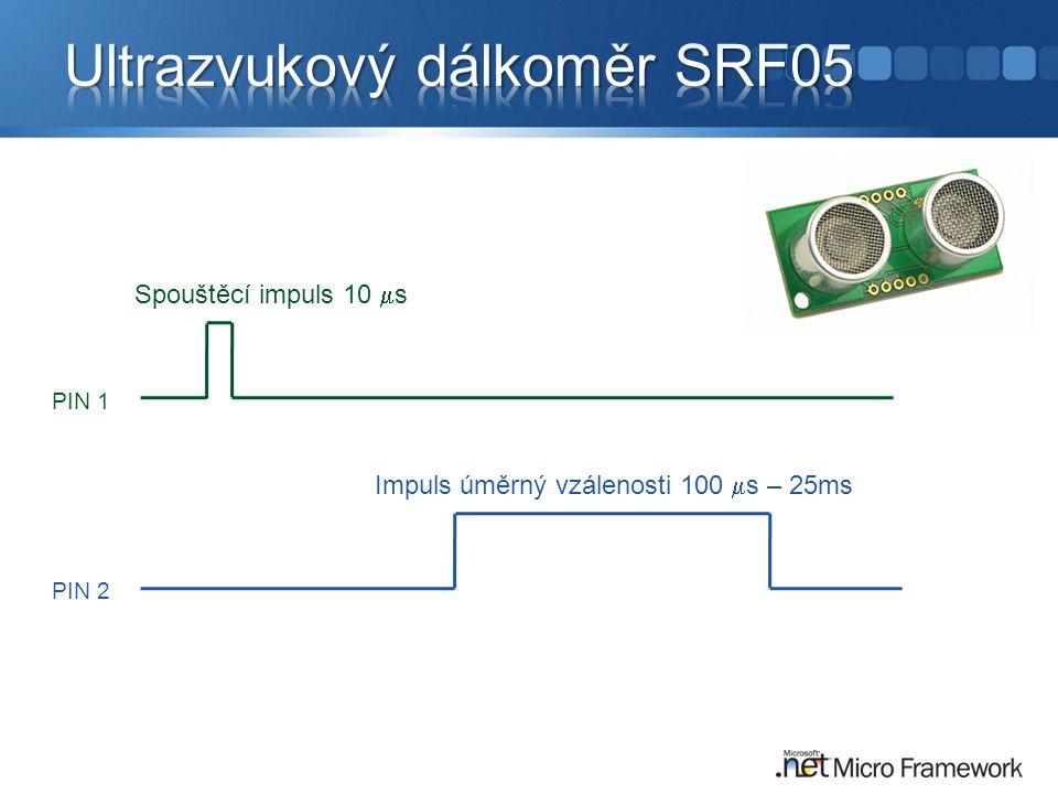 Ultrazvukový dálkoměr SRF05