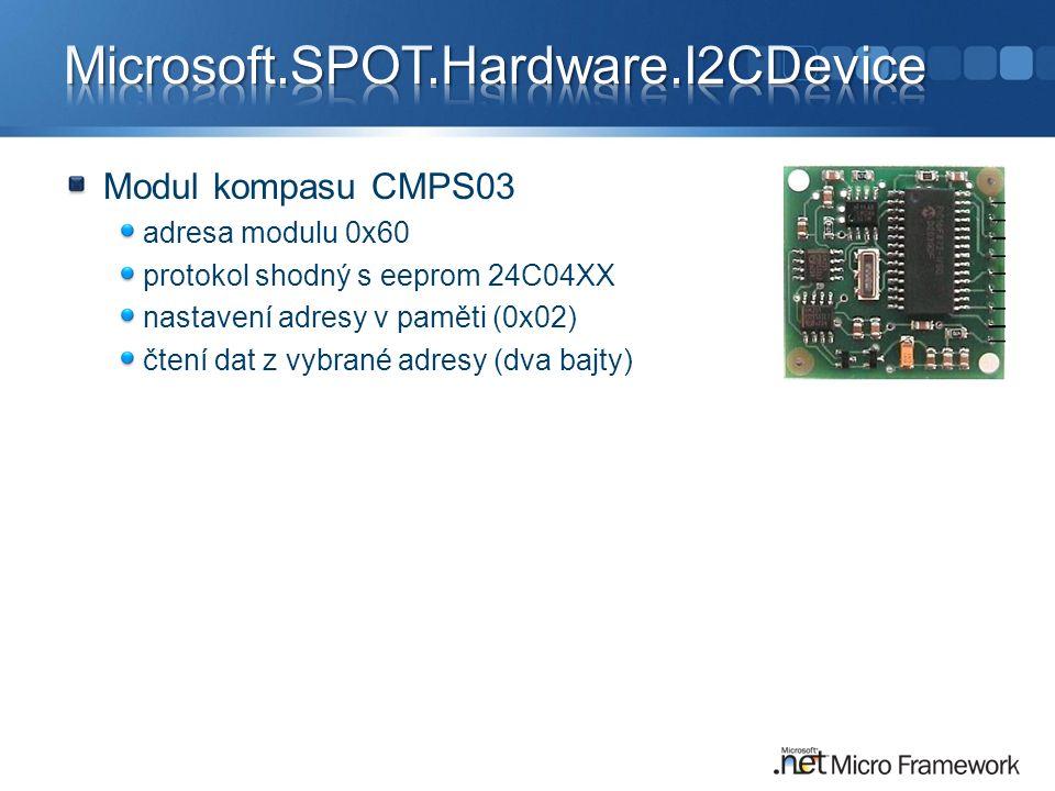 Microsoft.SPOT.Hardware.I2CDevice