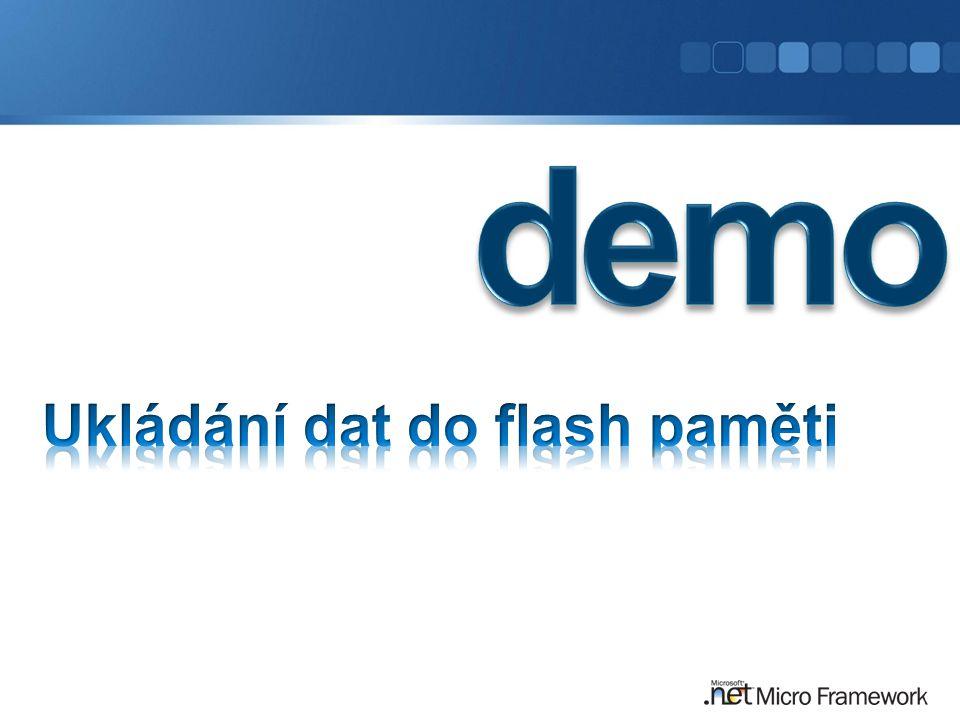 Ukládání dat do flash paměti