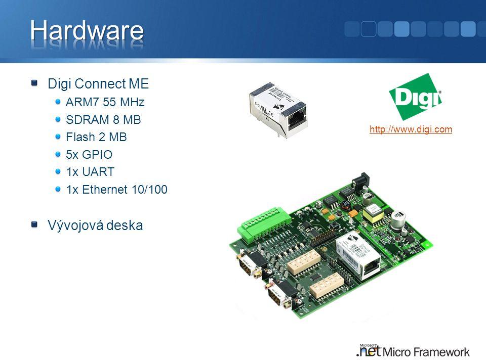 Hardware Digi Connect ME Vývojová deska ARM7 55 MHz SDRAM 8 MB