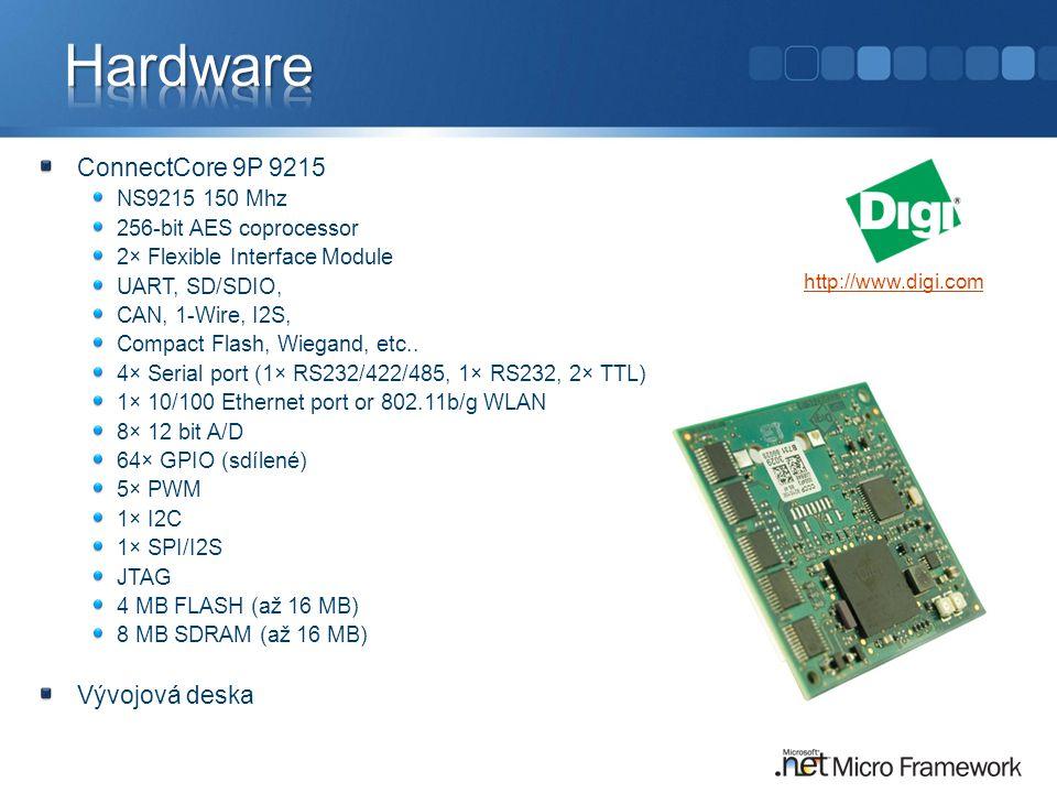 Hardware ConnectCore 9P 9215 Vývojová deska NS9215 150 Mhz