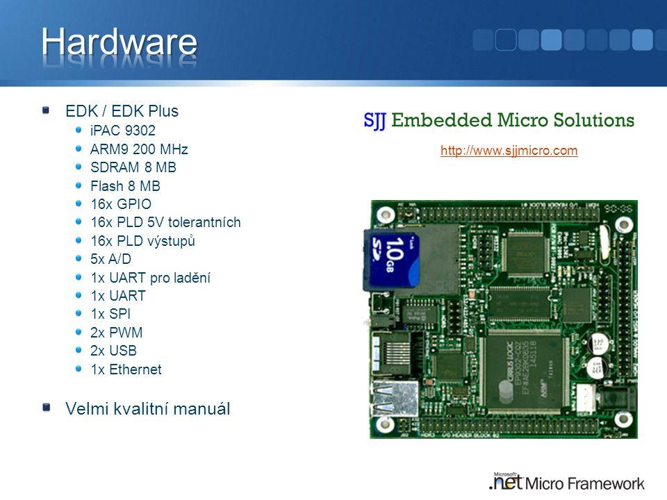 Hardware Velmi kvalitní manuál EDK / EDK Plus iPAC 9302 ARM9 200 MHz