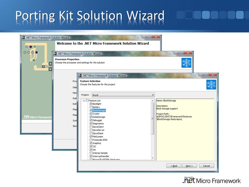 Porting Kit Solution Wizard