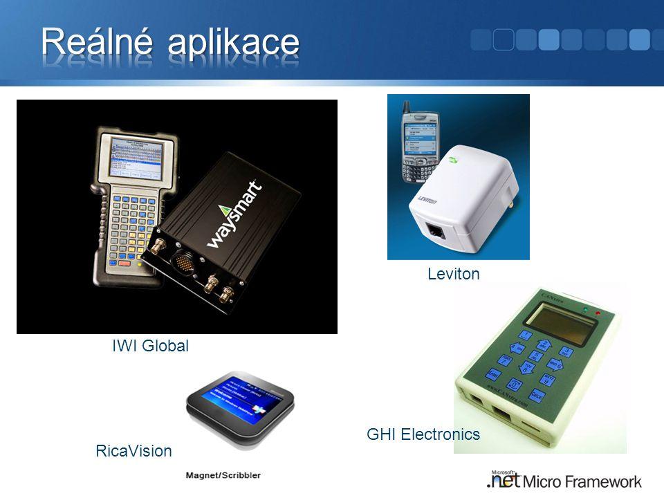 Reálné aplikace Leviton IWI Global GHI Electronics RicaVision