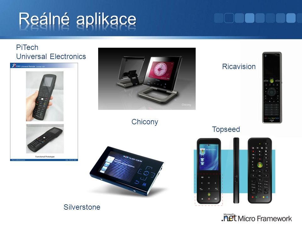 Reálné aplikace PiTech Universal Electronics Ricavision Chicony