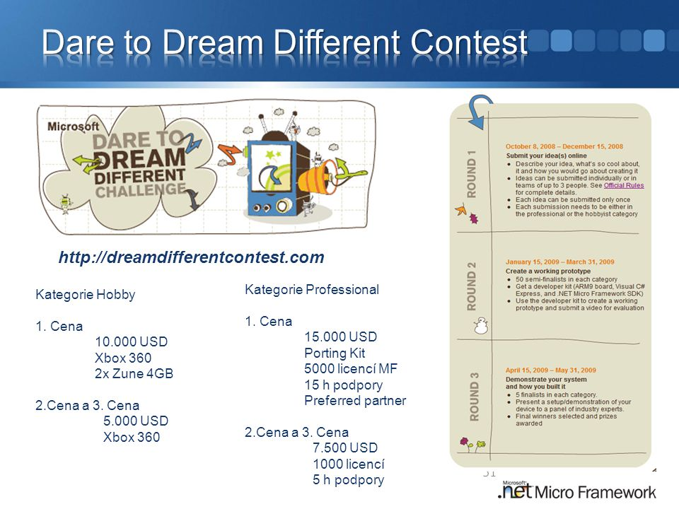 Dare to Dream Different Contest