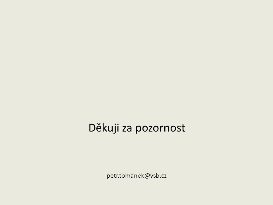 Děkuji za pozornost petr.tomanek@vsb.cz