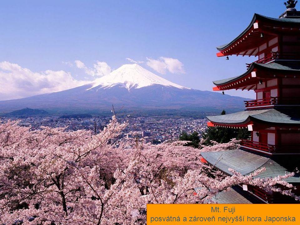 posvátná a zároveň nejvyšší hora Japonska