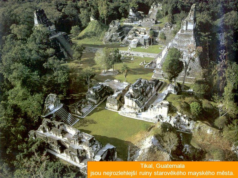 jsou nejrozlehlejší ruiny starověkého mayského města.