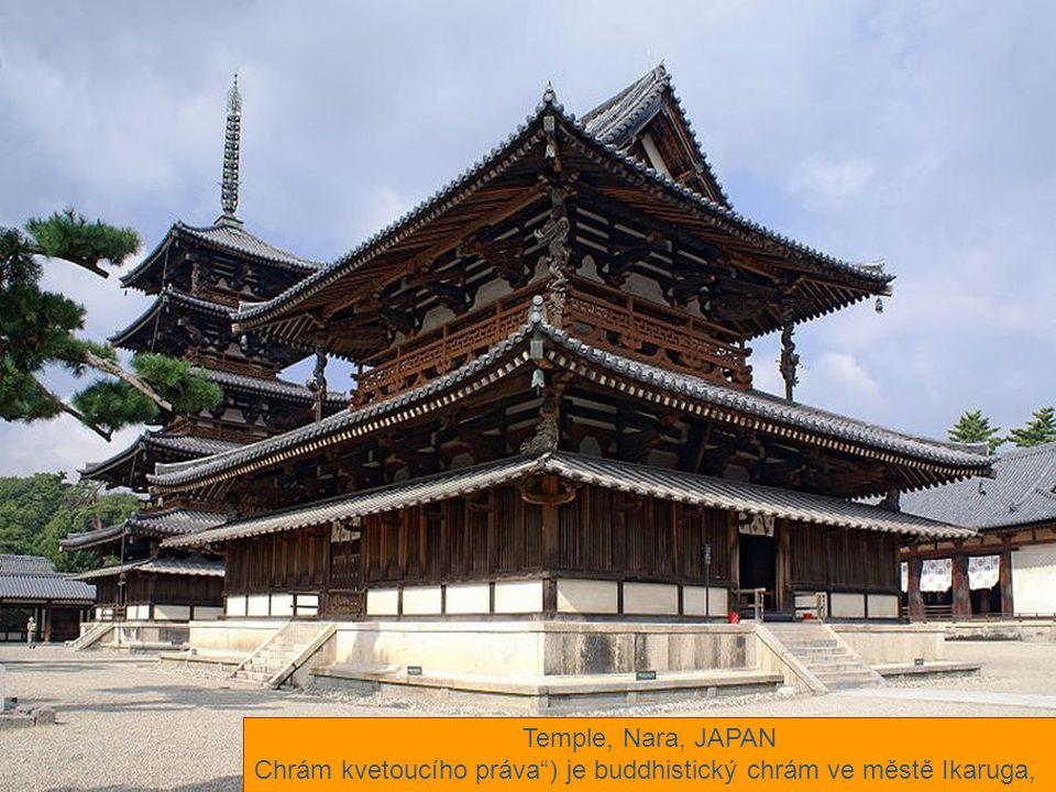 Chrám kvetoucího práva ) je buddhistický chrám ve městě Ikaruga,