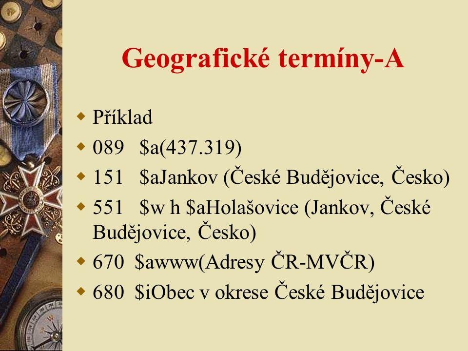 Geografické termíny-A