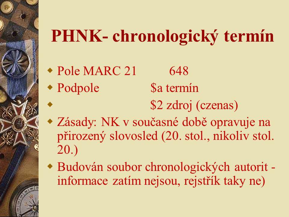 PHNK- chronologický termín