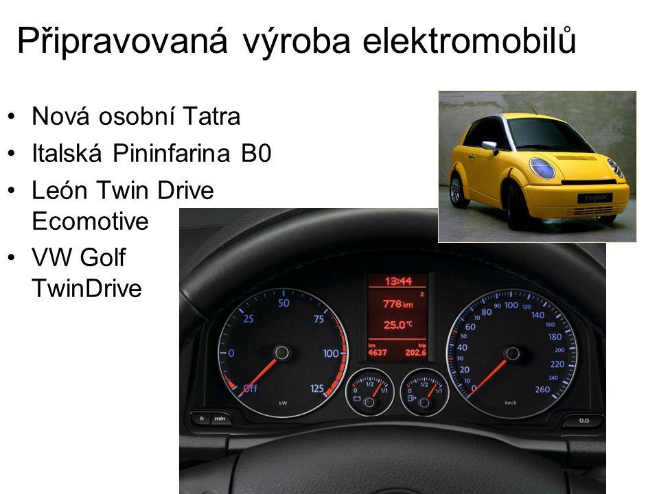 Připravovaná výroba elektromobilů