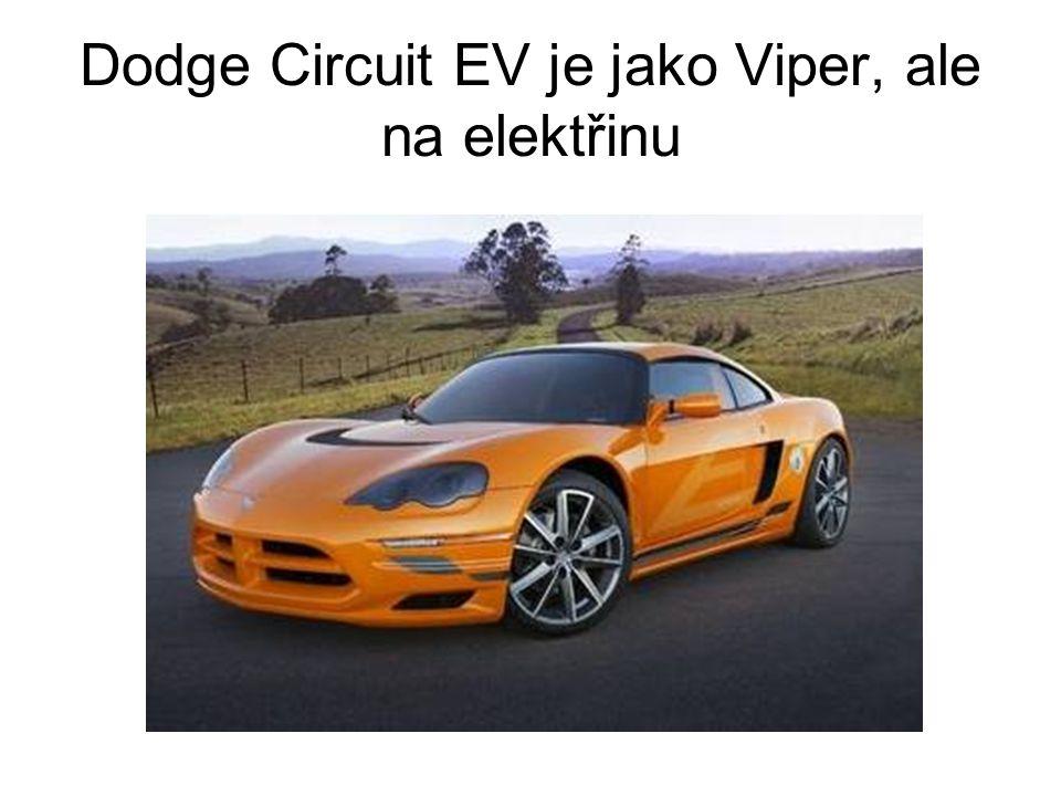 Dodge Circuit EV je jako Viper, ale na elektřinu