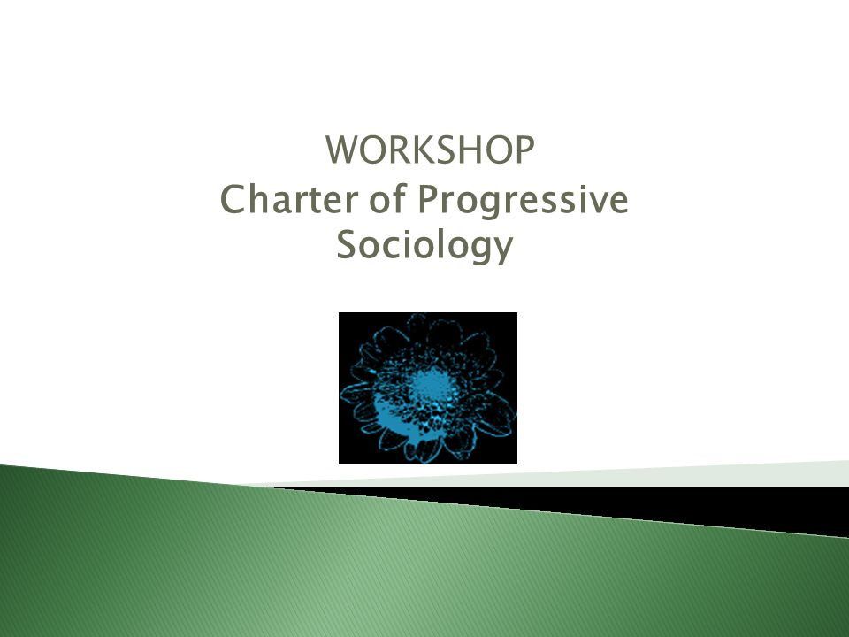 WORKSHOP Charter of Progressive Sociology