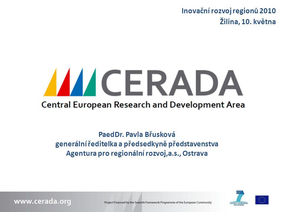 Inovační rozvoj regionů 2010 Žilina, 10. května