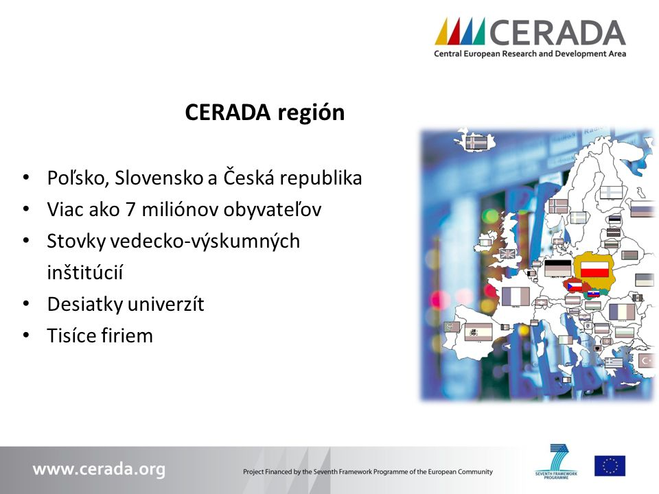 CERADA región Poľsko, Slovensko a Česká republika
