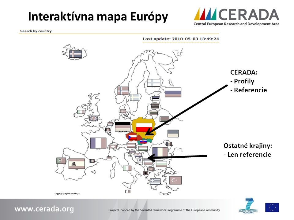 Interaktívna mapa Európy