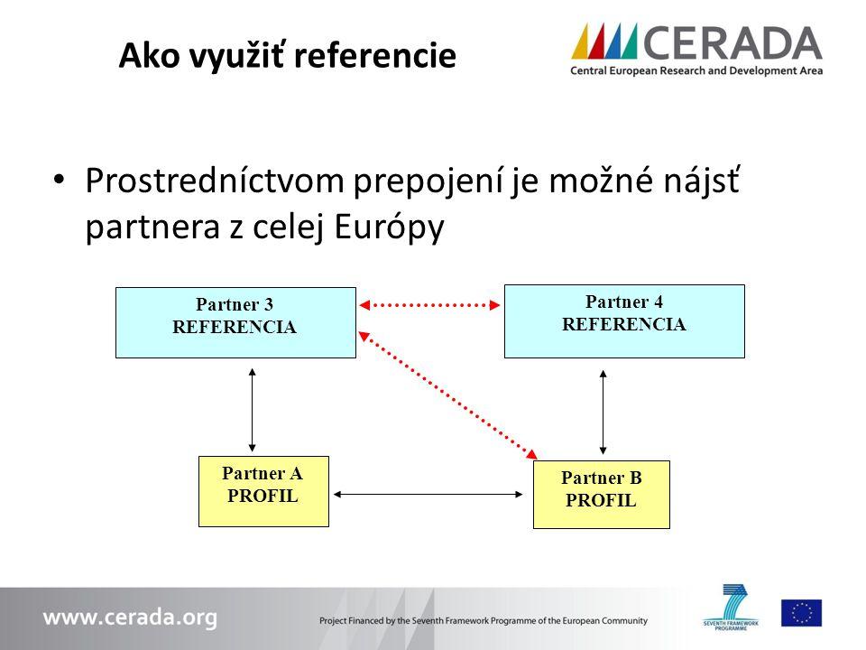 Prostredníctvom prepojení je možné nájsť partnera z celej Európy