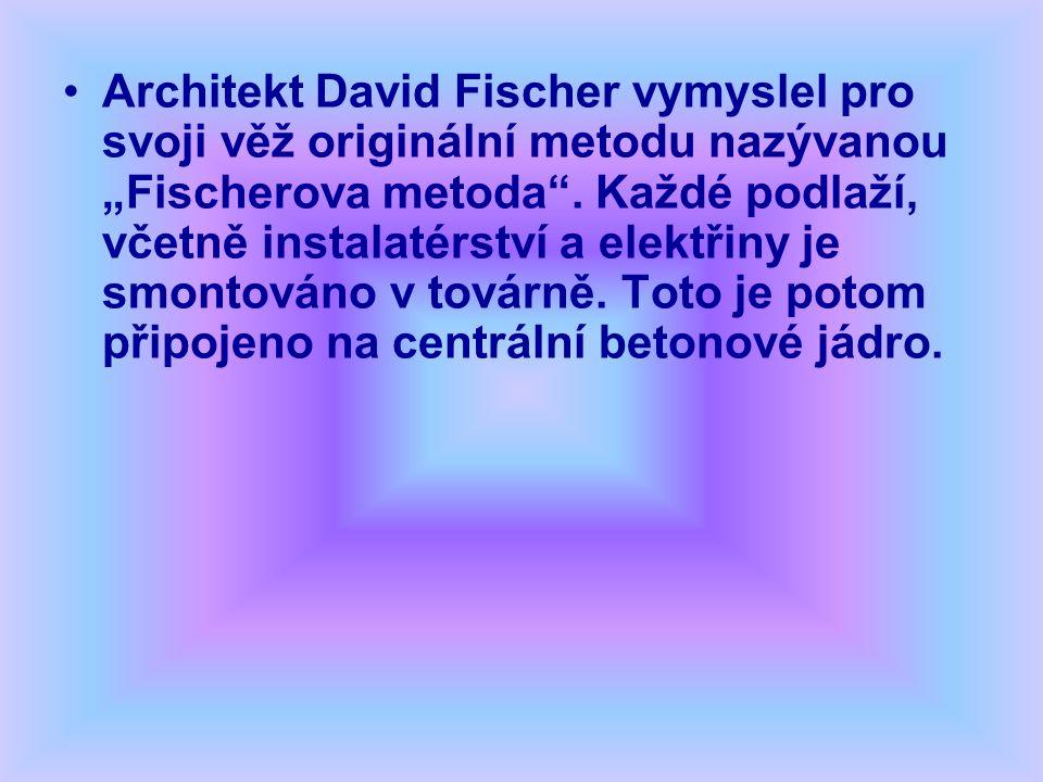 """Architekt David Fischer vymyslel pro svoji věž originální metodu nazývanou """"Fischerova metoda ."""