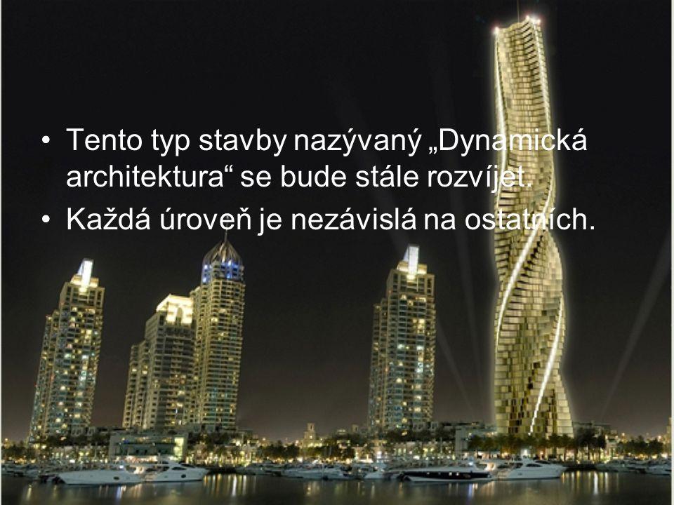 """Tento typ stavby nazývaný """"Dynamická architektura se bude stále rozvíjet."""