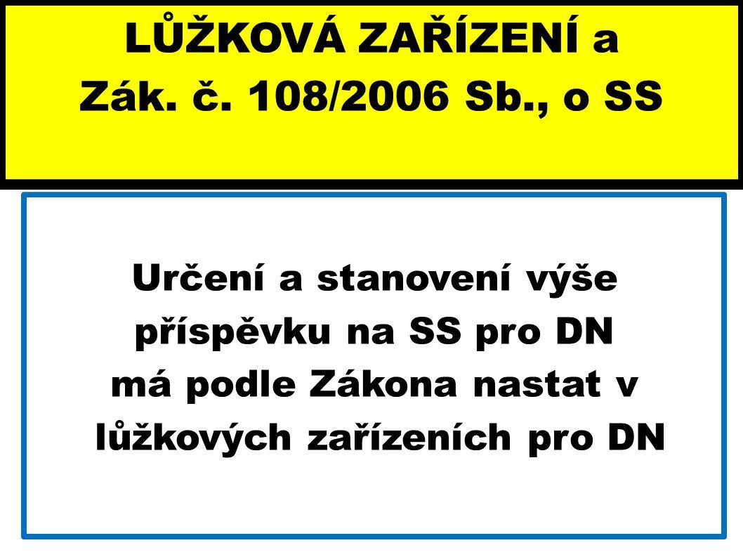 LŮŽKOVÁ ZAŘÍZENÍ a Zák. č. 108/2006 Sb., o SS