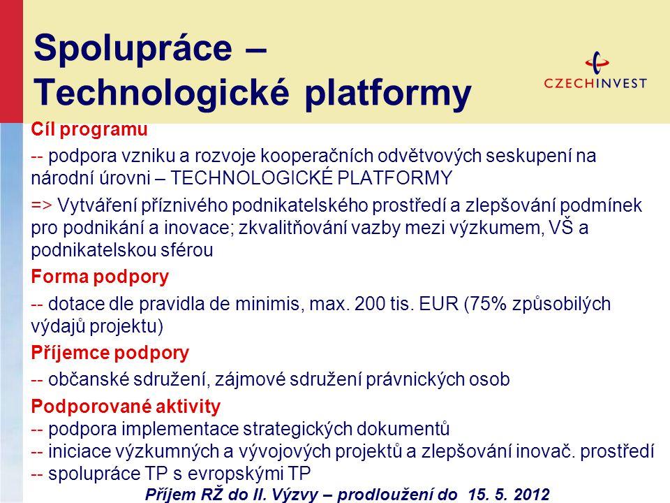 Spolupráce – Technologické platformy
