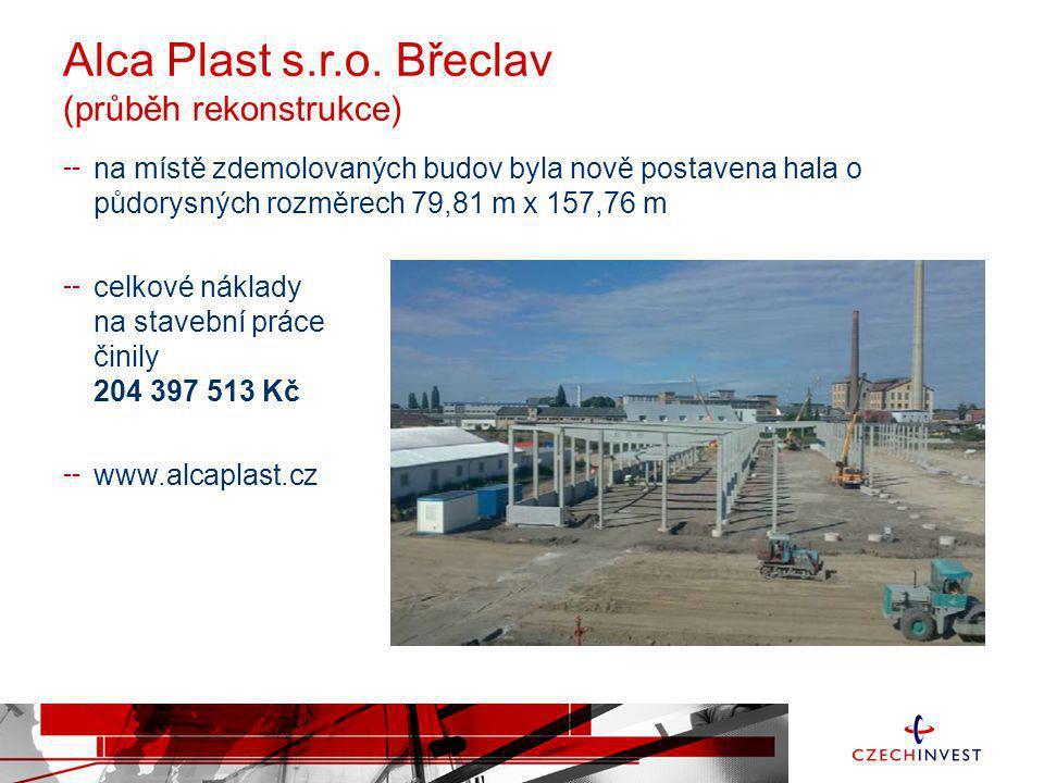 Alca Plast s.r.o. Břeclav (průběh rekonstrukce)