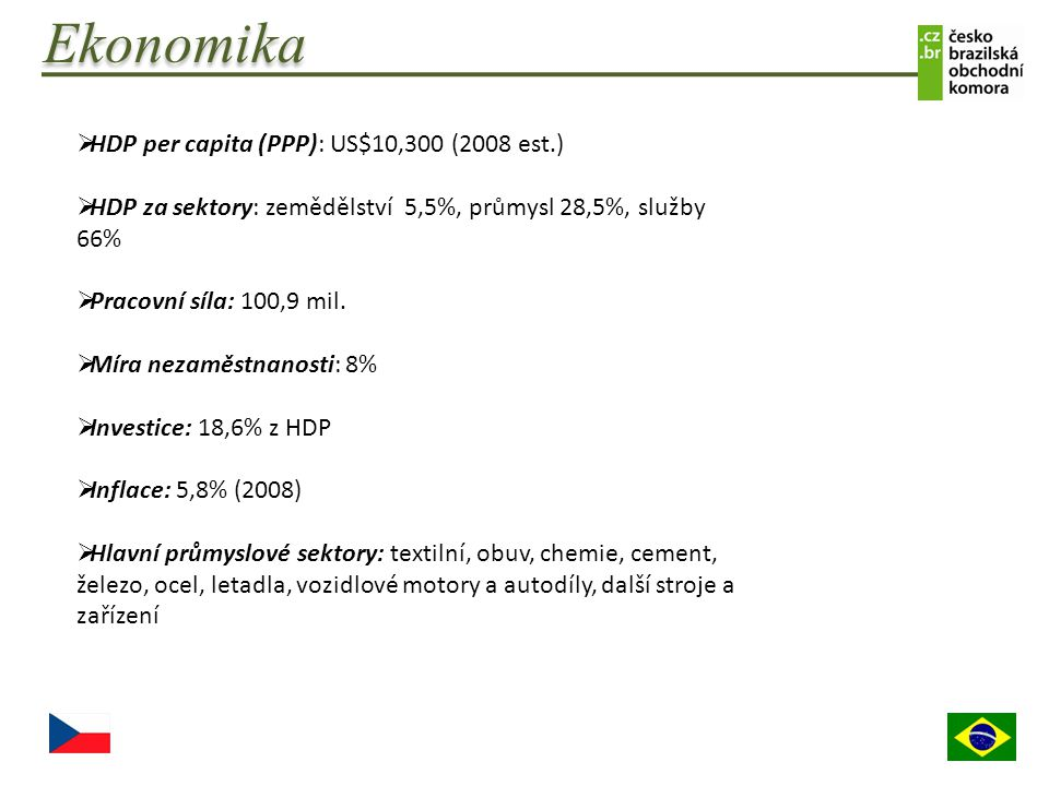 Ekonomika HDP per capita (PPP): US$10,300 (2008 est.)