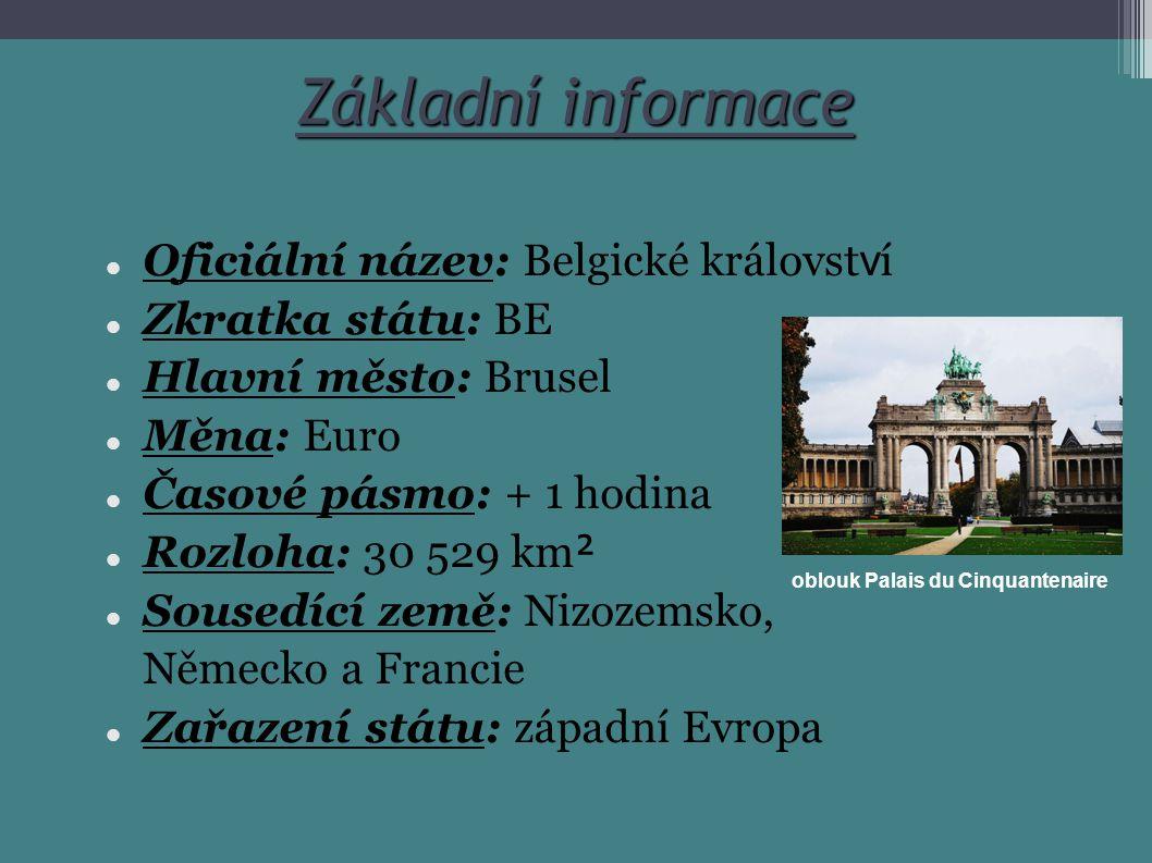 Základní informace Oficiální název: Belgické království