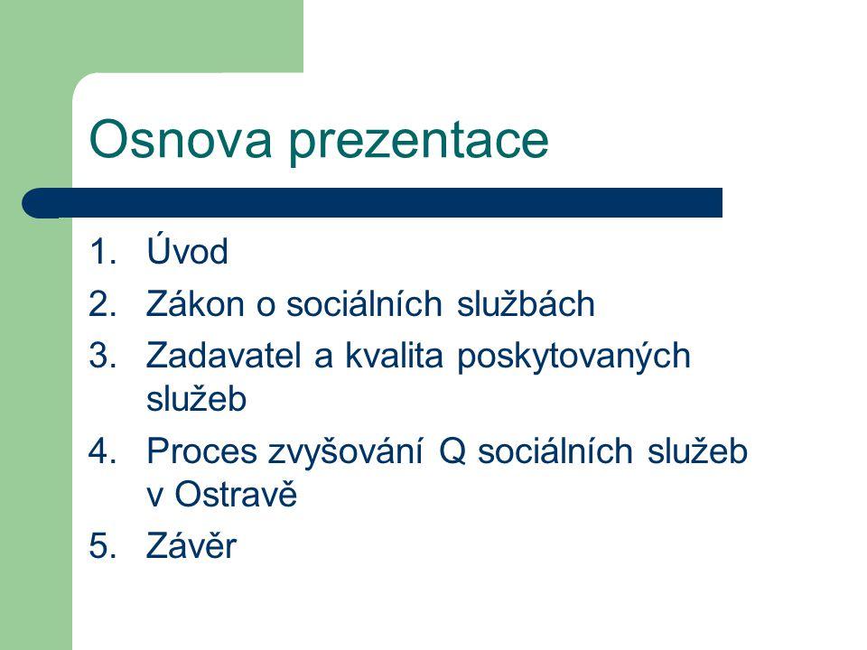 Osnova prezentace Úvod Zákon o sociálních službách