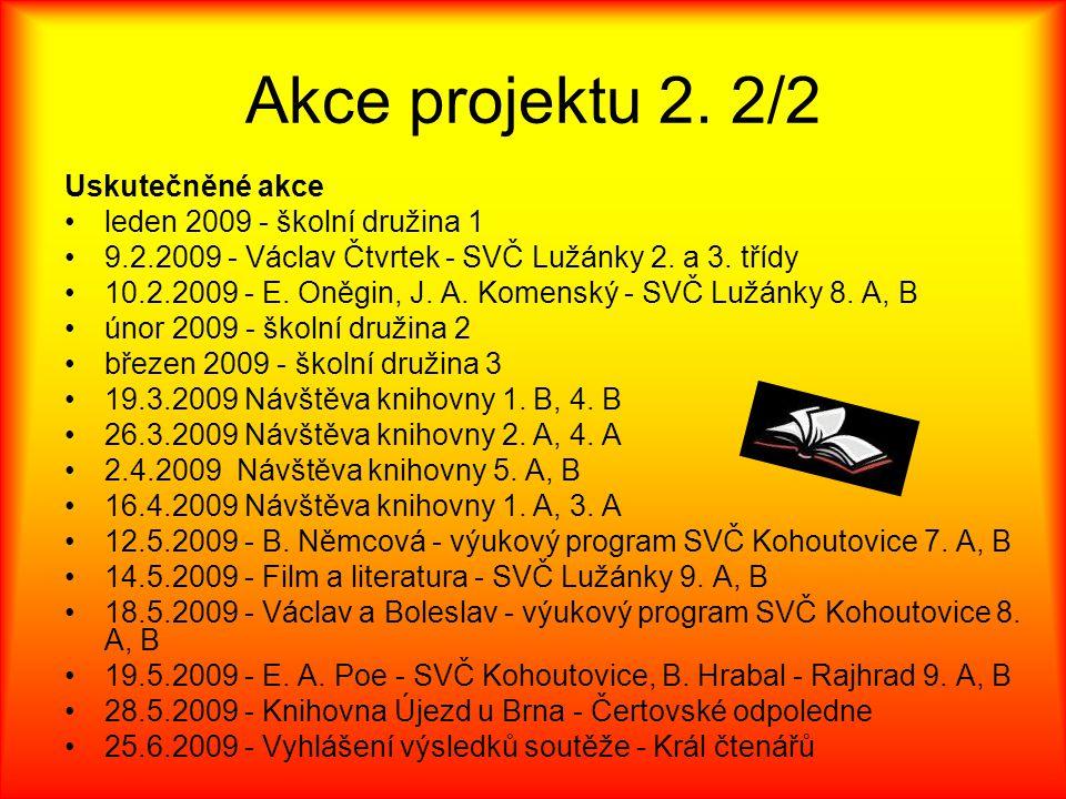 Akce projektu 2. 2/2 Uskutečněné akce leden 2009 - školní družina 1