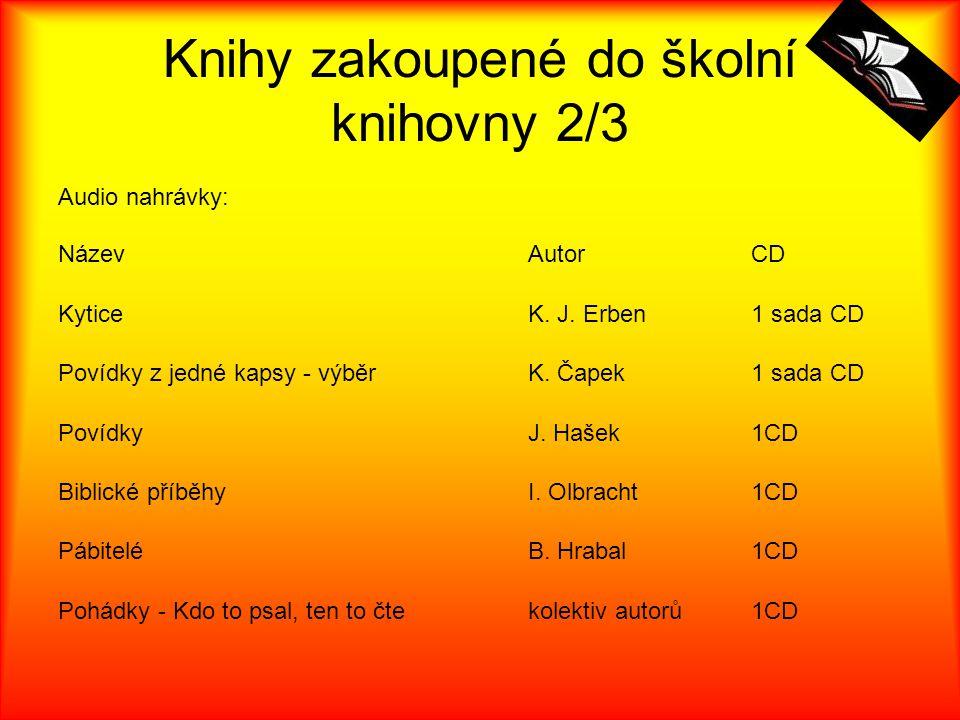 Knihy zakoupené do školní knihovny 2/3