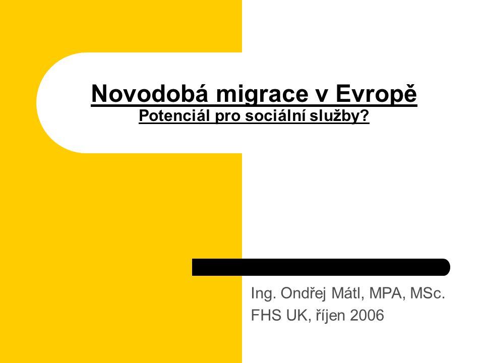 Novodobá migrace v Evropě Potenciál pro sociální služby