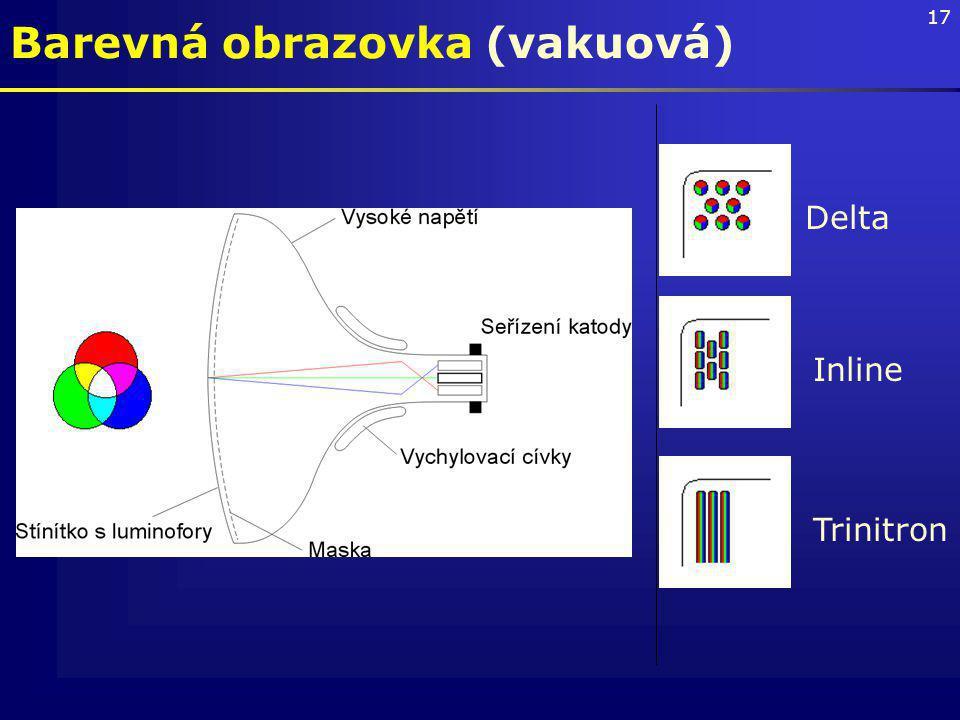 Barevná obrazovka (vakuová)