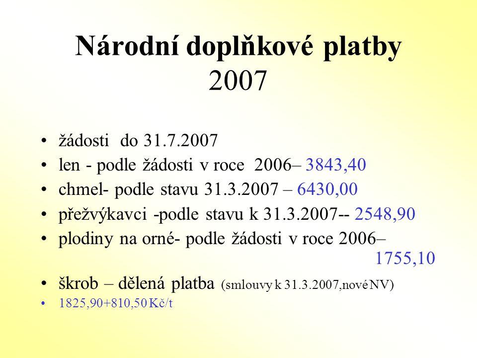 Národní doplňkové platby 2007