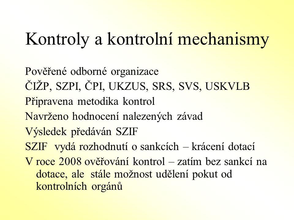 Kontroly a kontrolní mechanismy