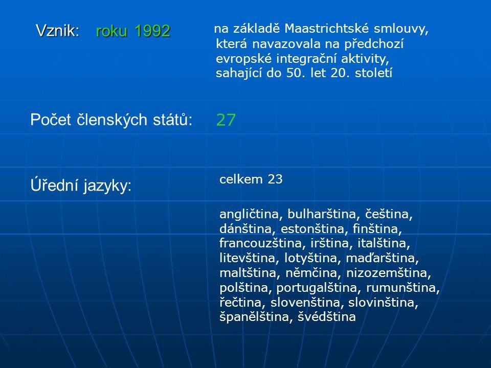 Počet členských států: 27