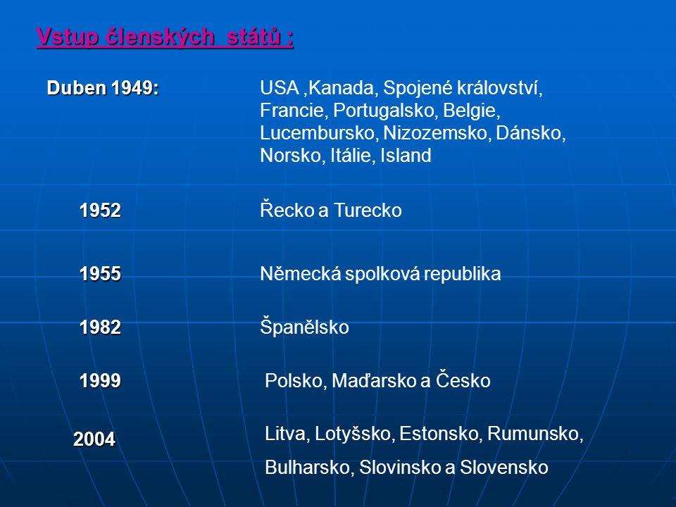 Vstup členských států :