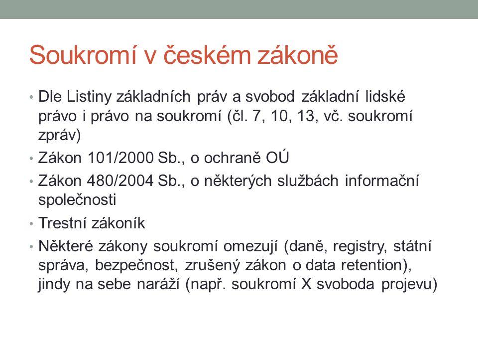 Soukromí v českém zákoně