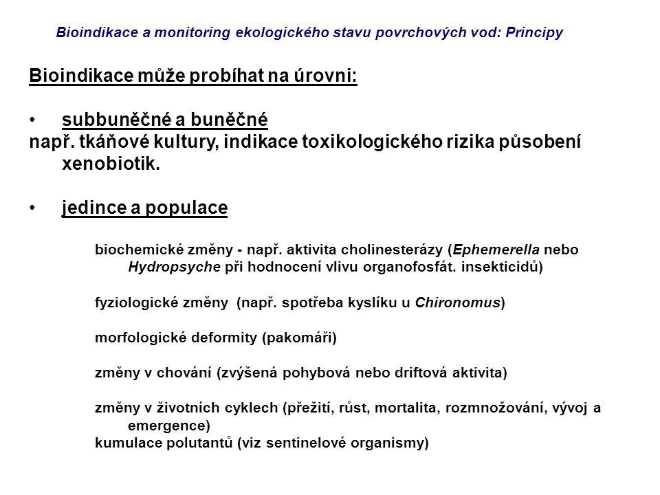 Bioindikace a monitoring ekologického stavu povrchových vod: Principy