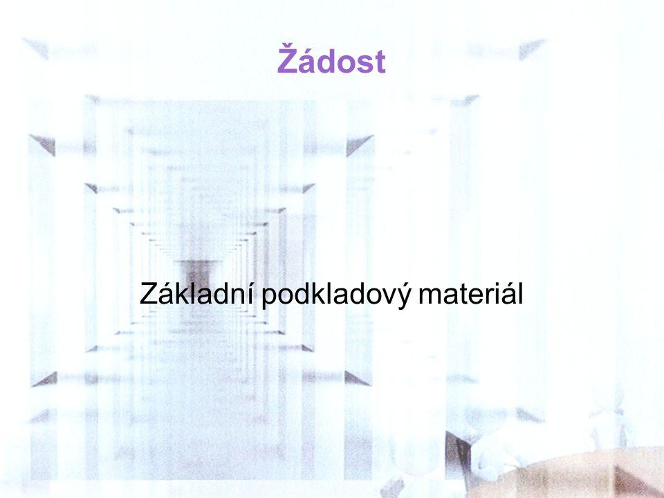 Základní podkladový materiál