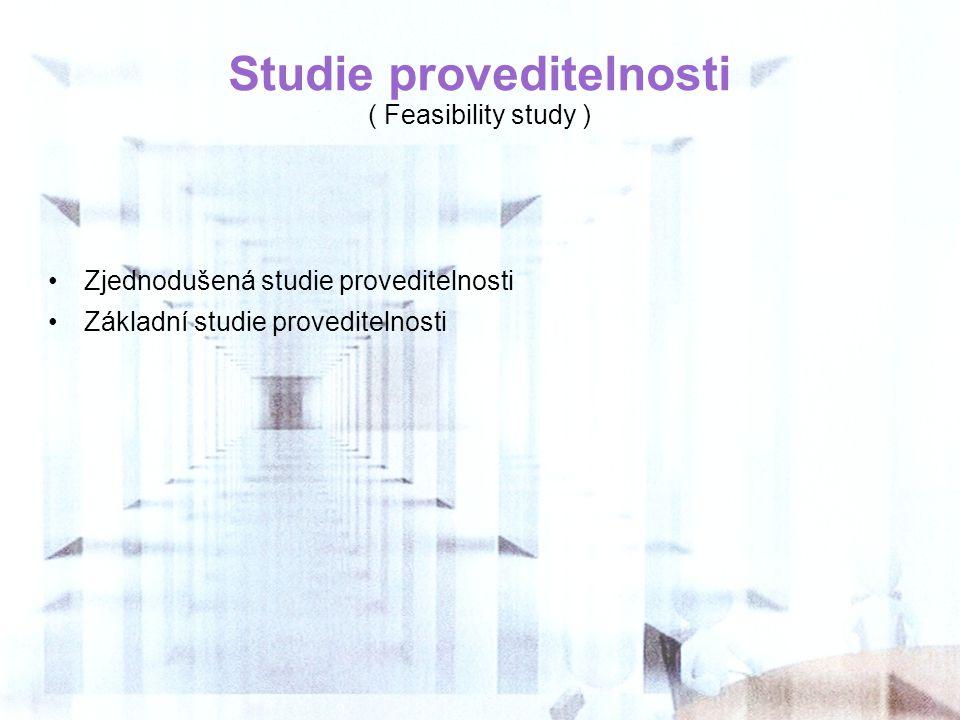Studie proveditelnosti ( Feasibility study )