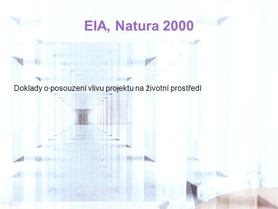 EIA, Natura 2000 Doklady o posouzení vlivu projektu na životní prostředí