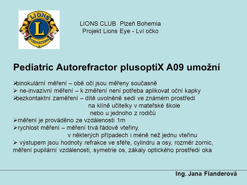 Pediatric Autorefractor plusoptiX A09 umožní