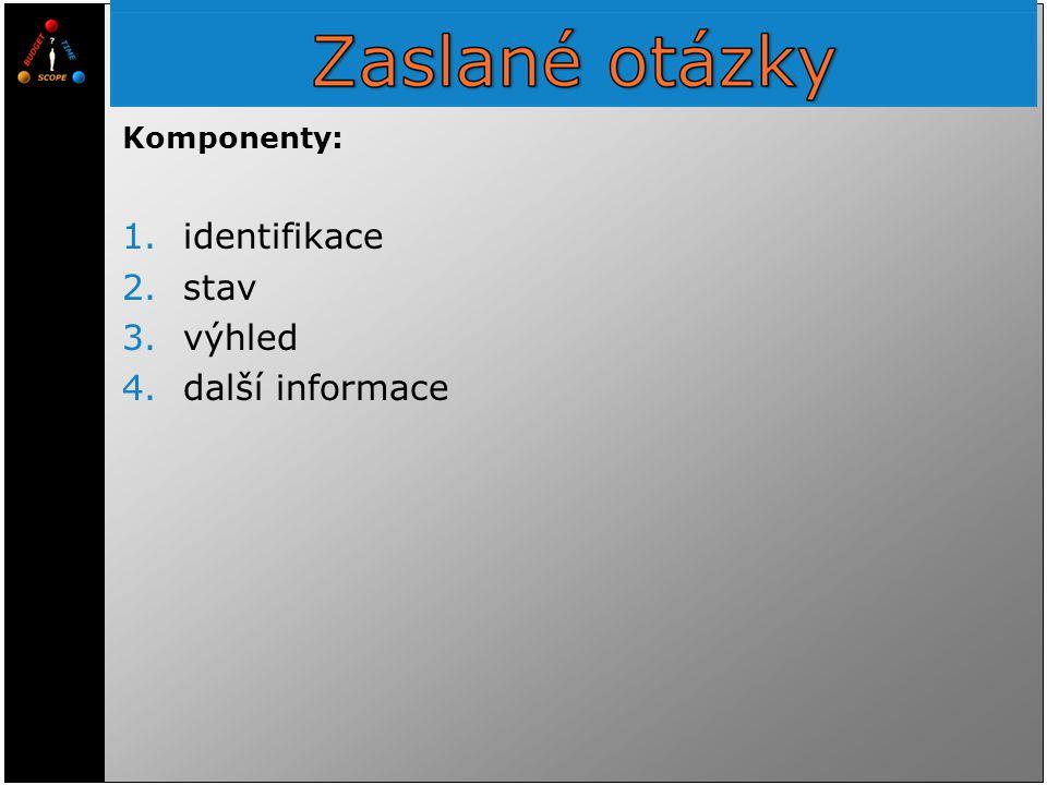Komponenty: identifikace stav výhled další informace 2