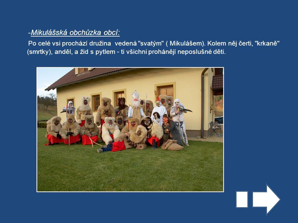 -Mikulášská obchůzka obcí: