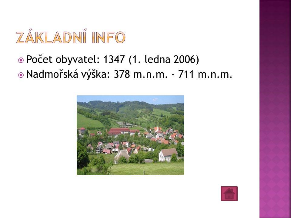 Základní info Počet obyvatel: 1347 (1. ledna 2006)