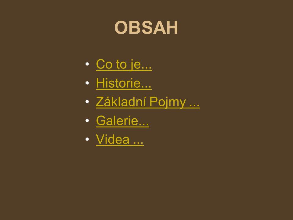 OBSAH Co to je... Historie... Základní Pojmy ... Galerie... Videa ...