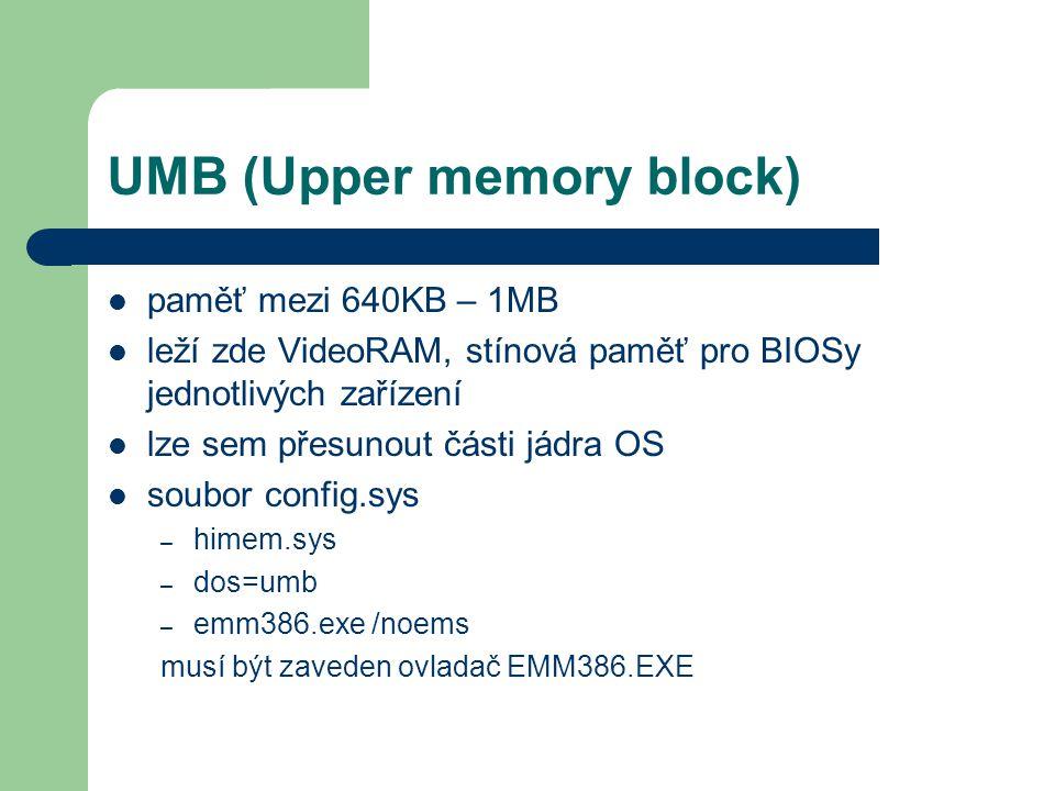 UMB (Upper memory block)